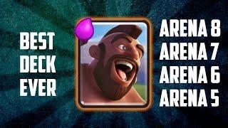 best deck arena 6 7 8 no legendaries clash royale clash