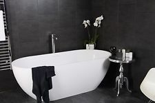 3 Swish Marbrex Anthracite Large Tile Effect Wall Panels Shower PVC Cladding
