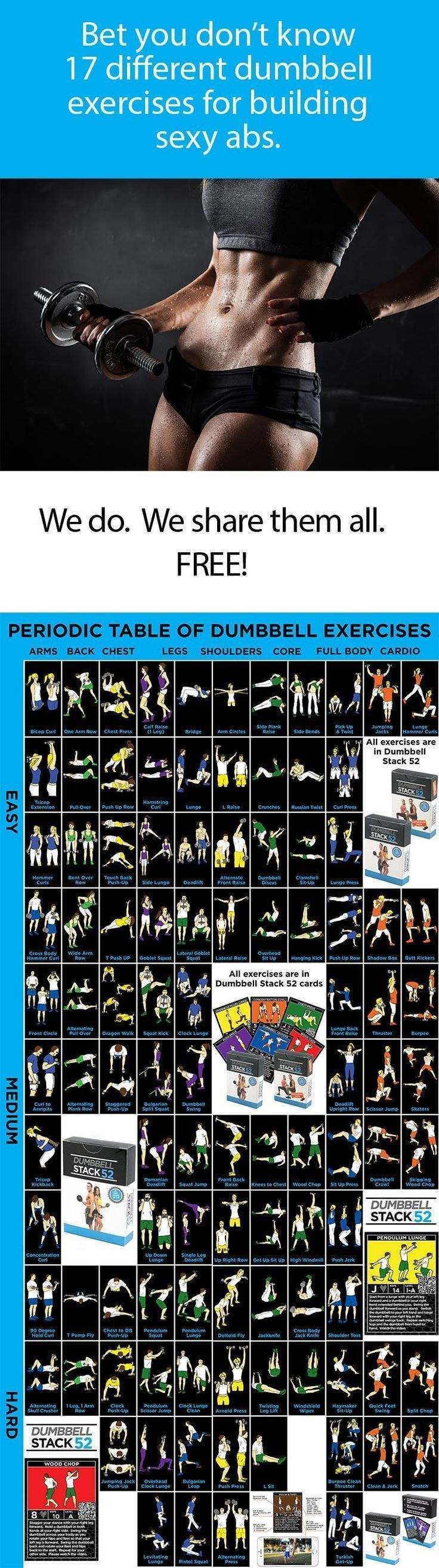 list of dumbbell exercises by muscle group dumbbell - 736×2629