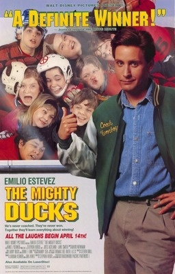 Dad - you took me and jill to see this when mom was at the junior league retreat, remember?   The Mighty Ducks.. One of the best sports movies of all time.