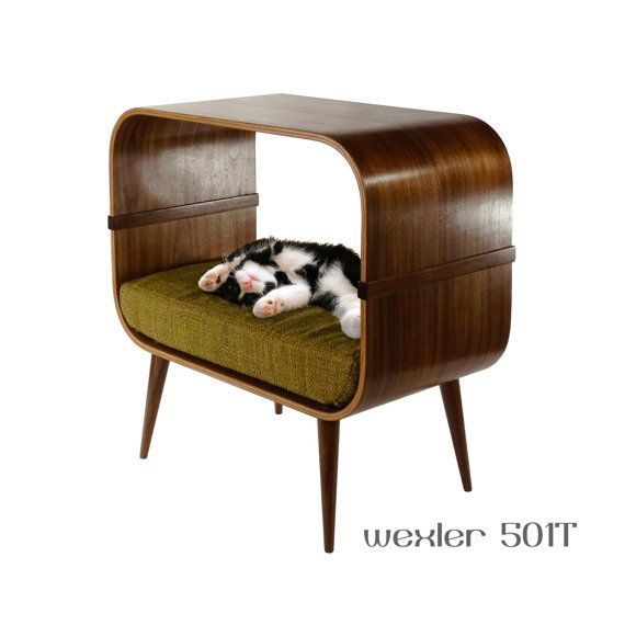 Best 25 midcentury cat beds ideas on pinterest floor desk midcentury office storage and - Contemporary cat furniture ideas ...