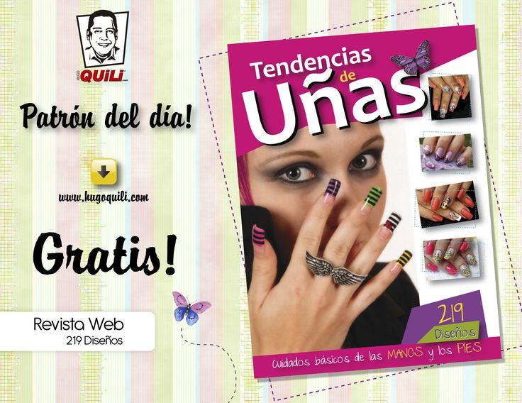 Revista Web Tendencias de Uñas son 219 Diseños. Descargala totalmente Gratis en nuestra pagina web.