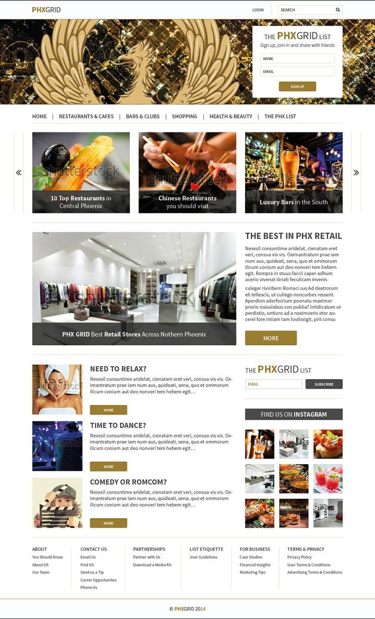 PHX-Grid #Magazine #Web #Design #FrontEnd #Layout by #YellowDNA