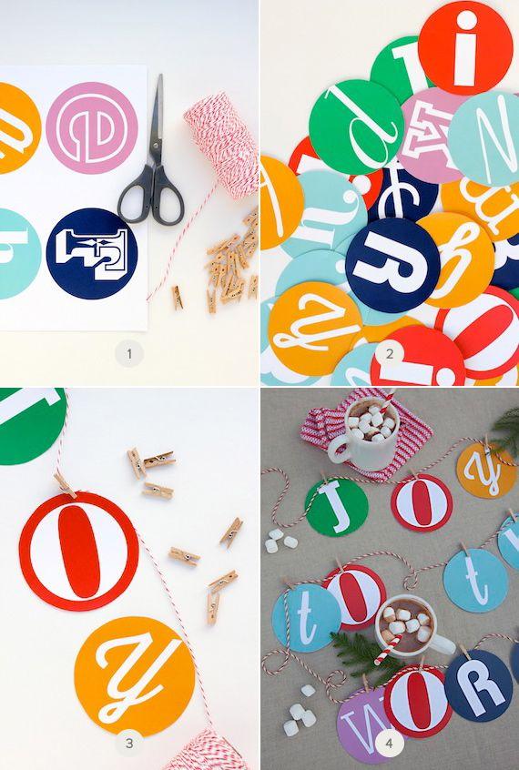 FREE printable alphabet letters for DIY garland  | Julep - minted.com
