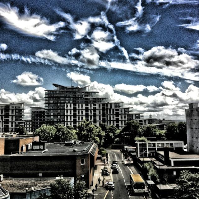#Woking #Town #Centre #Buildings #Sky #Scenery