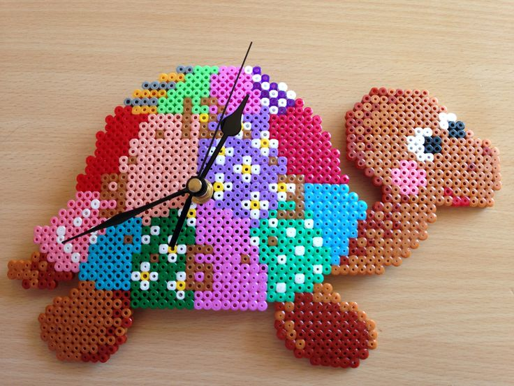 best images about perler clocks perler beads turtle clock hama perler beads by georgina tudela hama artperler mitesfuse