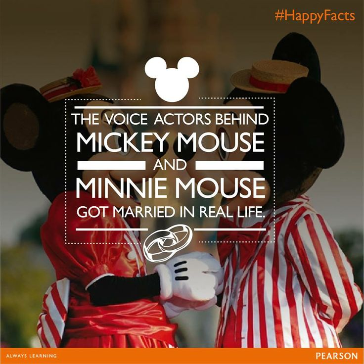 Did you know the voice actors behind Mickey Mouse and Minnie Mouse got married in real life?