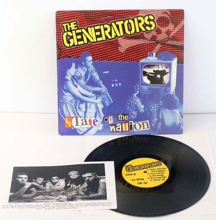 """the GENERATORS state of the nation 10"""" Vinyl Record with Cock Sparrer cover song #punkGarageRockPunkNewWave"""