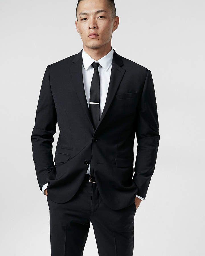 ca3607741 Express Slim Black Wool-Blend Performance Stretch Suit Jacket   My ...