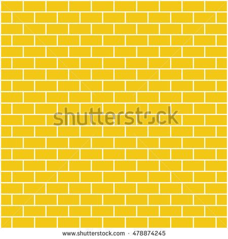 Brickwork. Yellow abstract background. Vector illustration. For your design.