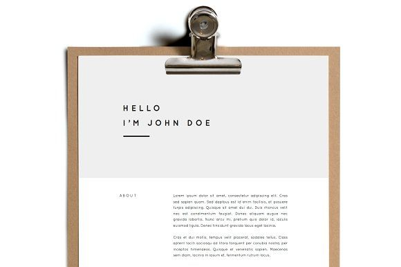 Schriftart / Simple Resume Template | Design 10 by Foundry Stationary on @creativemarket