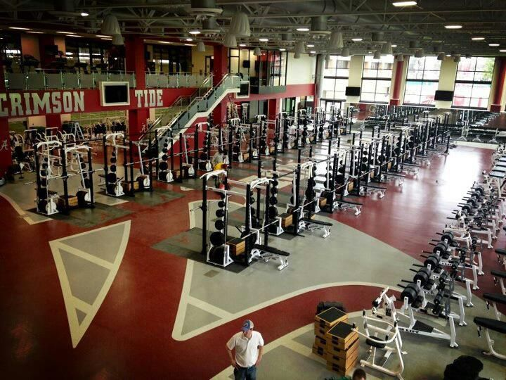 University of alabama s new weight facility gym fitout
