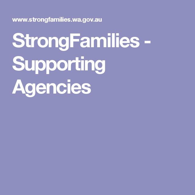 StrongFamilies - Supporting Agencies