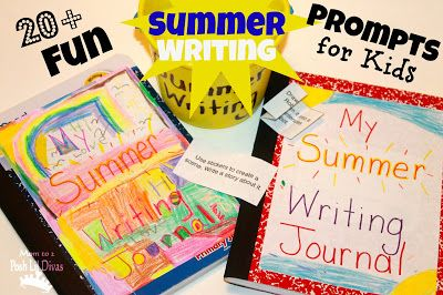 FUN writing prompts for kids - includes a free printable of topics