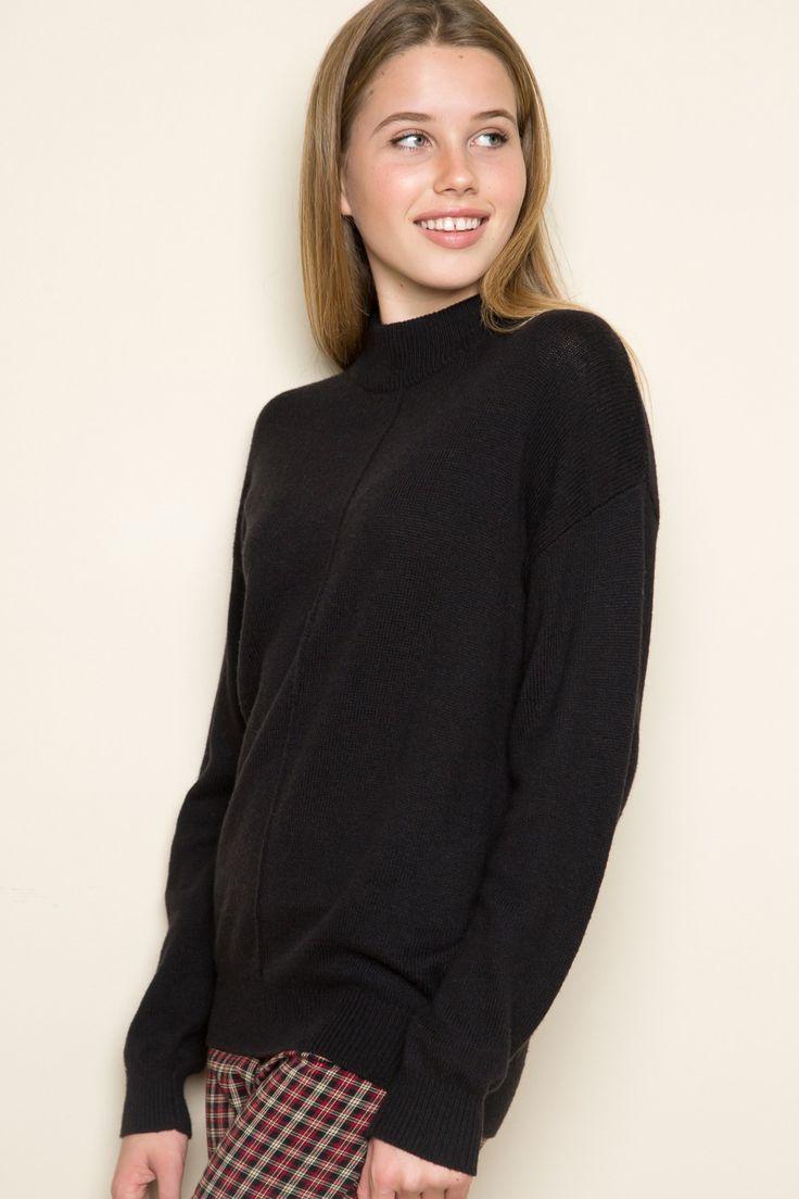Black t shirt dress brandy melville - Brandy Melville Shen Turtleneck Sweater Clothing