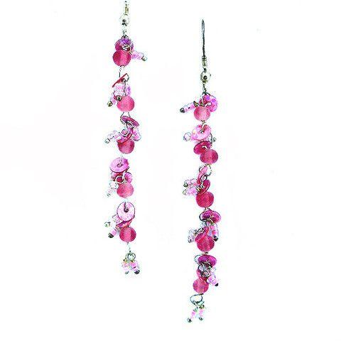 Metallic Mermaid - Pink sequin earrings – Jc & Crew