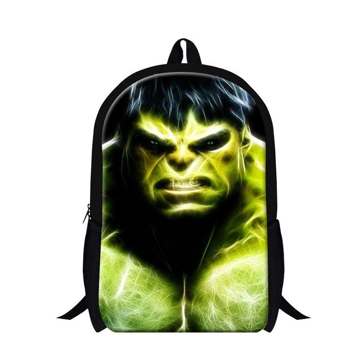 Прохладный Халк аниме рюкзаки для мальчиков, новый дизайнер молодежи рюкзаки стильные рюкзаки для подростков, детей мило плеча mochila