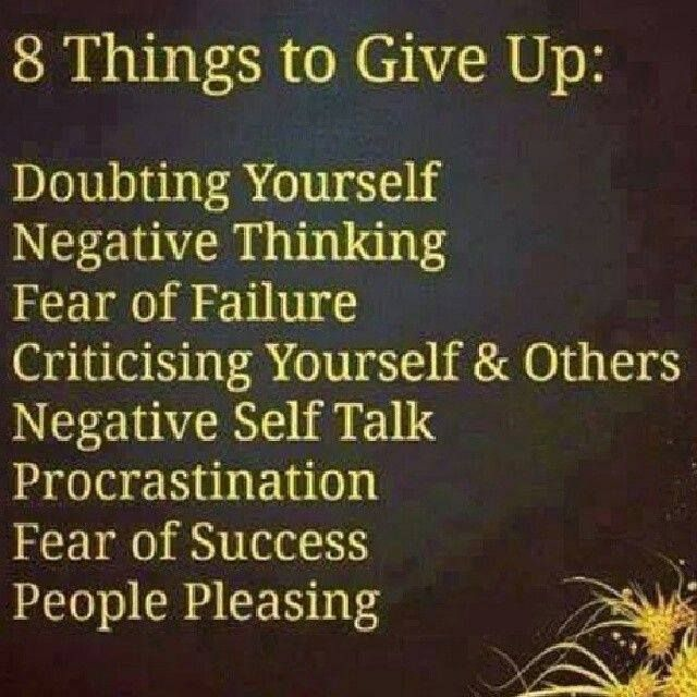 8 things to give up today
