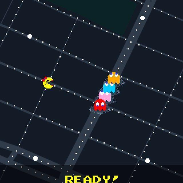 今グーグルマップを開くとパックマンができる  #グーグル #google #googlemap #グーグルマップ #パックマン