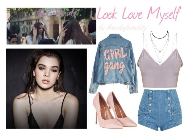 Look Love Myself by brookefatality on Polyvore featuring polyvore fashion style High Heels Suicide Pierre Balmain Topshop clothing iloveme haileesteinfeld lovemyself