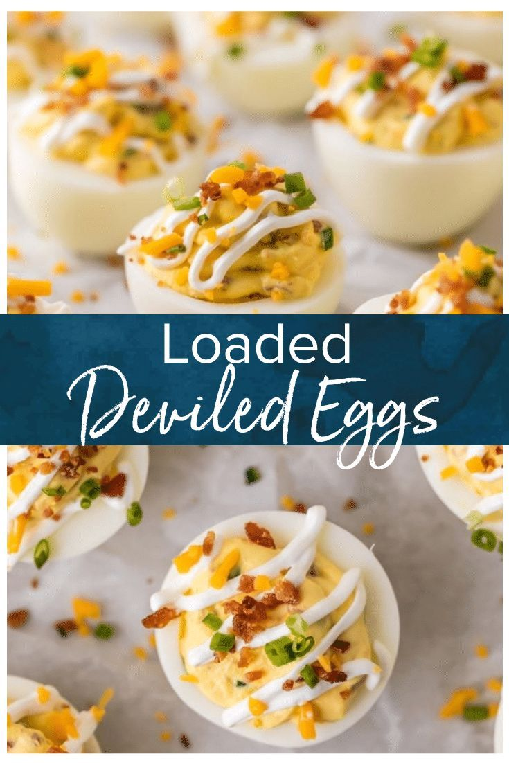This Deviled Egg Recipe Is Filled With The Flavors Of A Loaded Baked Potato Smothered I Deviled Eggs Recipe Devilled Eggs Recipe Best Deviled Eggs Recipe Easy