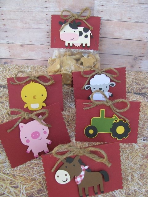 On The Farm Favor Bag Toppers Set of 6  YOU by mypaperpantry, $9.00