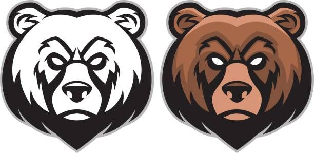Royalty Free Grizzly Bear Angry Clip Art Vector Images Angry Bear Bear Logo Design Bear Illustration