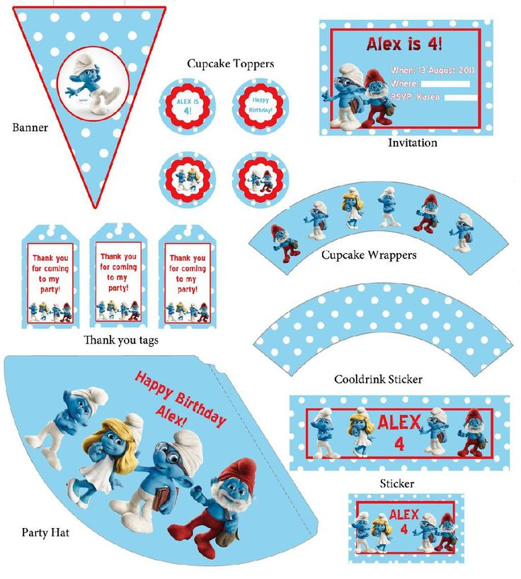 free smurf printables - Google Search | Arts and Crafts ...