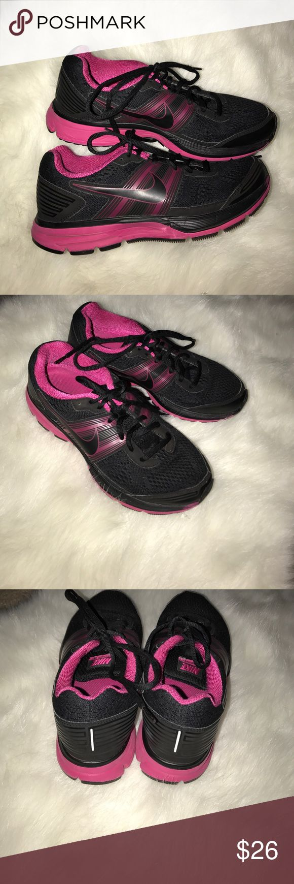 Pink and black Nikes Women pink and black Nike sneakers Nike Shoes Sneakers