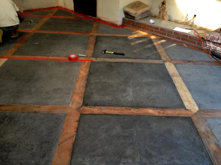concrete wood floor #Wadeco