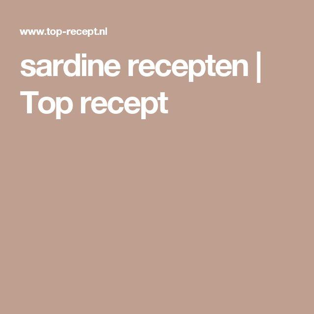 sardine recepten | Top recept