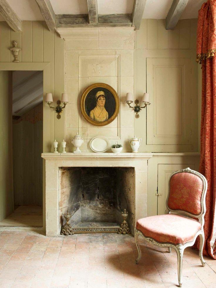 628 best mantels images on pinterest fire places for Georgian farmhouse interiors