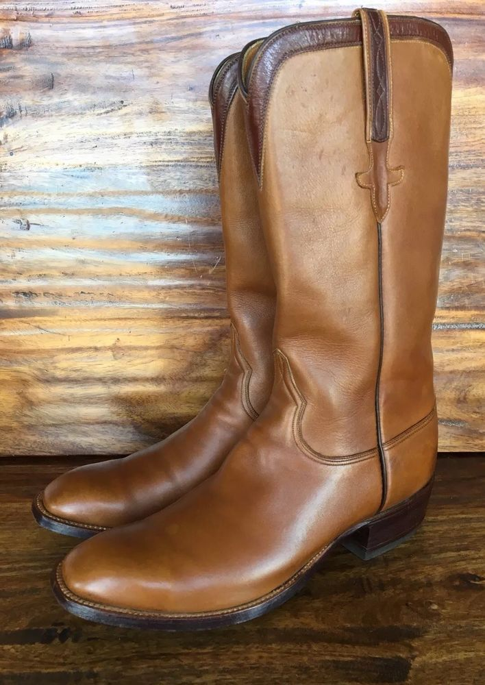 Mens Lucchese Western Cowboy Boots Size 9 D Tan Brown Leather   139.00 End  Date  Monday Dec-10-2018 10 00 03 PST Buy It Now for only … 8c5e81f5d