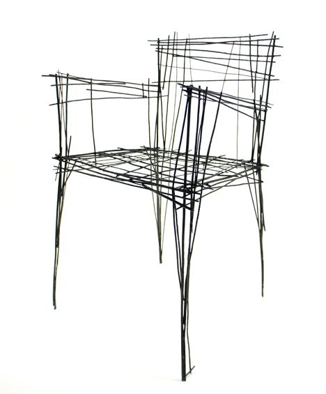 South Korean designer Jinil Park has created a range of furniture from intersecting wires that has the appearance of a two-dimensional sketch