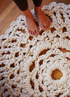Macrame: Idea, Doilies Rugs, Area Rugs, Crochet Hooks, Crochet Rugs, Doilies Patterns, Crochet Doilies, Diy Rugs, Ropes Rugs
