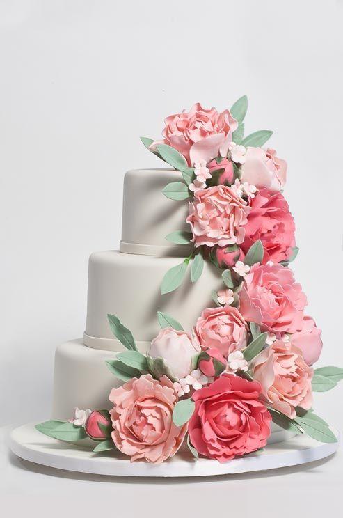 1000+ ideas about Peony Wedding Cakes on Pinterest Peony ...