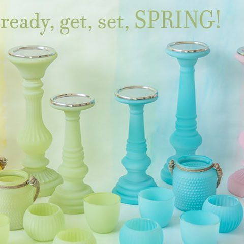 Sparkly evenings with our special spring edition of candle & t-light holders. #hellospring #sparkles #tlights #springtime
