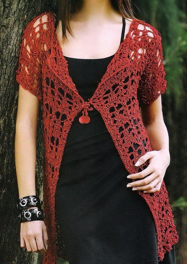 203 Best Crochet Short Sleeve Images On Pinterest Crochet Tops
