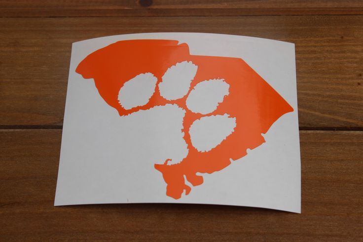 Clemson Paw South Carolina State Outline Decal by WheatonOaks on Etsy https://www.etsy.com/listing/243226586/clemson-paw-south-carolina-state-outline