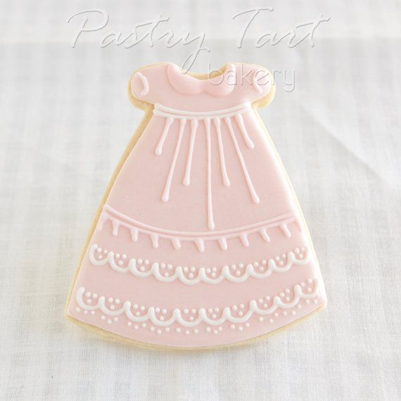 Etsy listing at http://www.etsy.com/listing/150095882/pink-baby-girl-dress-cookie-favors-1-doz
