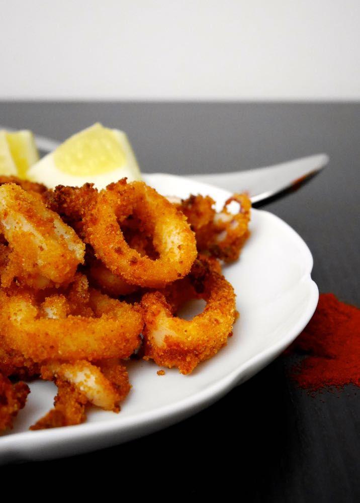 Anelli di calamari alla paprica al forno