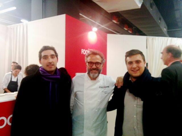 """With the great Italian chef Massimo Bottura at Identità Golose 2015, the international chefs congress.   We proudly provided the batch freezer for his new creation """"Il Pane dei Poveri"""".   http://www.carpigiani.com/index.html?pg=362&spg=10&nwsid=1092&langid=2&lngid=2&stid=1"""