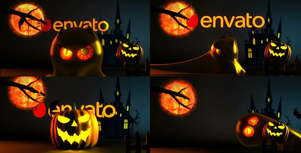 Scary Halloween Ghost Logo Reveal Bundle by BILDER  Full HD Presentation Modular Project 6 Different Versions Alpha channel included Easy change text with your own No additional plugins needed 1 place for your logo 1 place for your web address Font used is in help file Music links from preview: https://audiojungle.net/item/halloween-spooky-logo/917