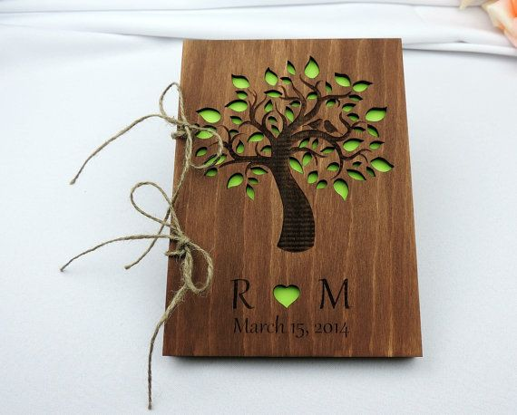 Custom Wood Wedding Guest Book, Wedding Present, Christmas Gift, Bride and Groom, Bridal Shower Book, Wedding Photo Album