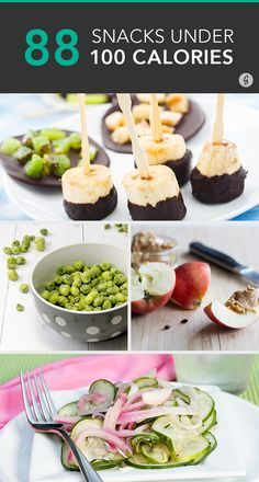 These healthy, low-calorie treats can please any palate while still leaving room for dinner. #lowcal #healthy #snacks
