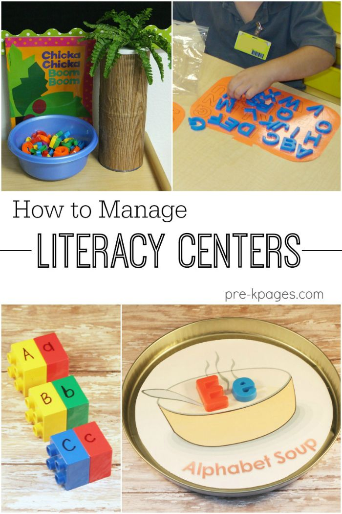 Literacy Center Management Tips for Pre-K and Kindergarten. How long? Who goes where and when? What materials and activities are used? And more!