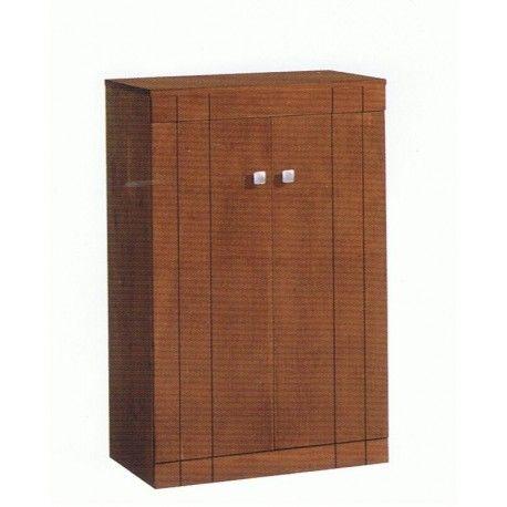 Armario Zapatero dos puertas en madera maciza y tambien dos cajones para dormitorio juvenil o tambien dormitorio de matrimonio.