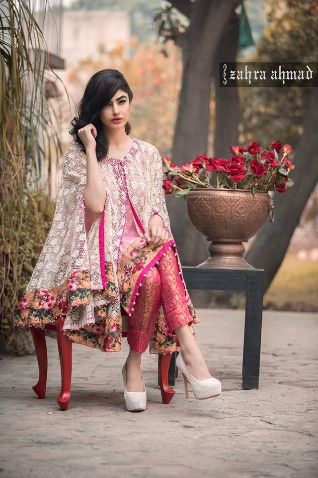 337127aef7 Zahra Ahmad Luxury Pret Dresses Collection 2016 (11)   Pakistani Clothes    Dresses, Pakistani cape dresses, Fashion
