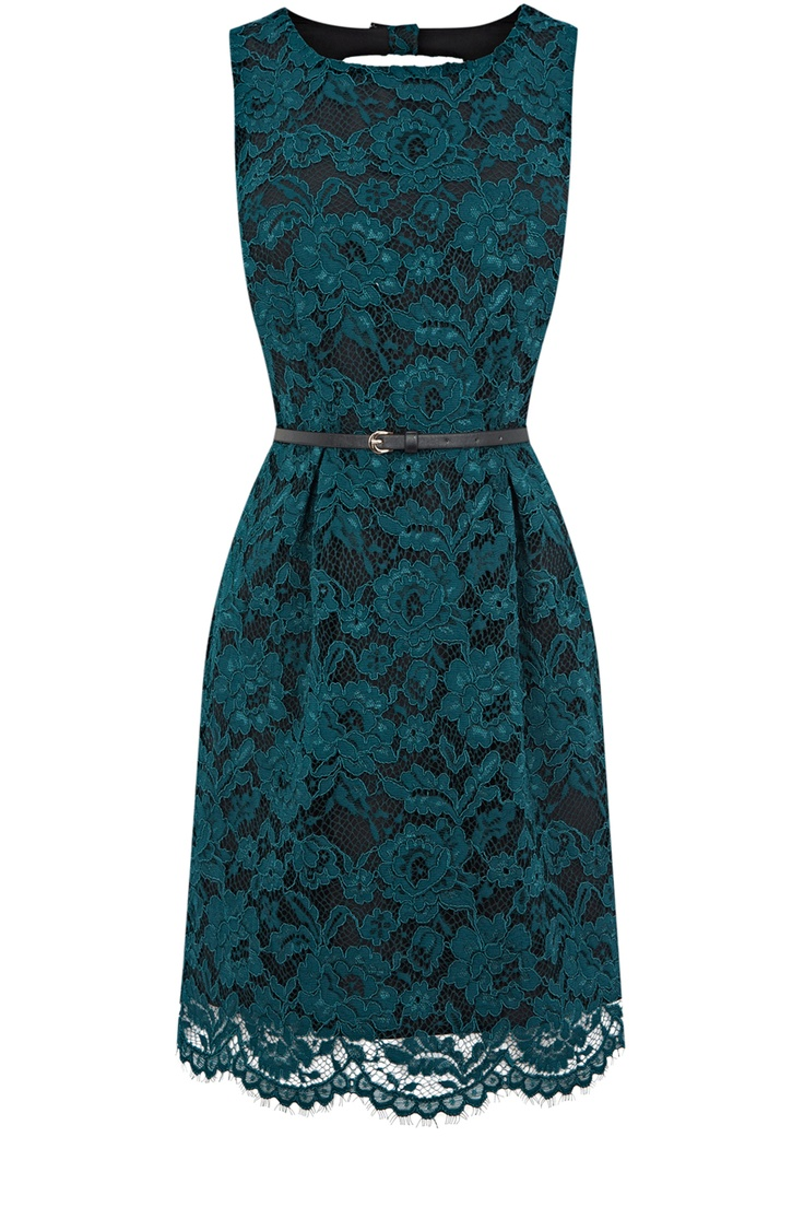 I need this dress....it is so freaking adorable!!   Mid Green Lily Lace Dress
