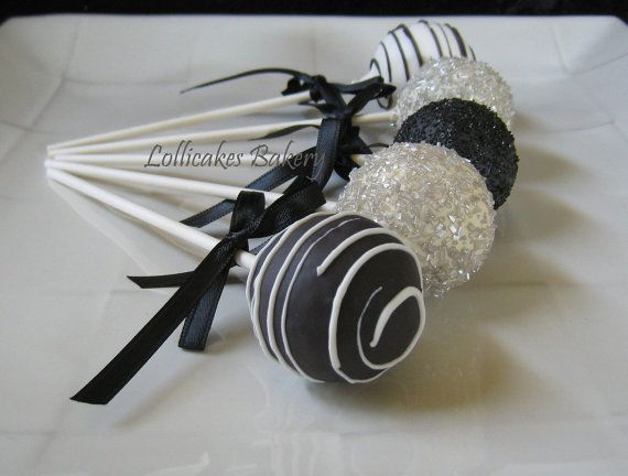 Halloween Wedding: Wedding Cake Pops Made by TheLollicakesBakery